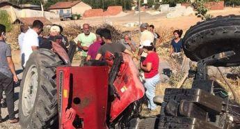 Tırın çarptığı traktör ikiye ayrıldı: 1 ağır yaralı
