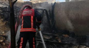 Darende'de ev yangını korkuttu